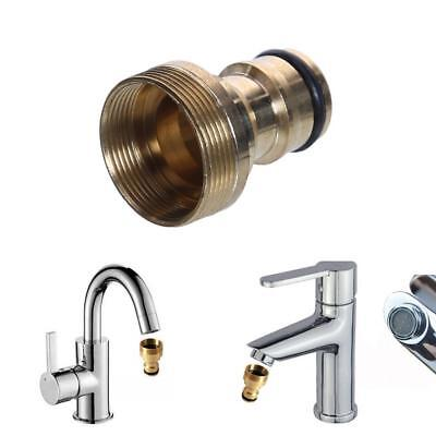 Tap Connector Kitchen Hose Universal Pipe Garden Fitting Adaptor Joiner Brass Us