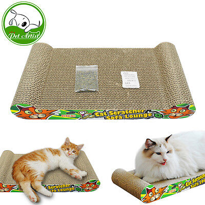 Scratcher Pad Cat Corrugated Play Toy Kitten Board Mat Bed Scratching Sisal New