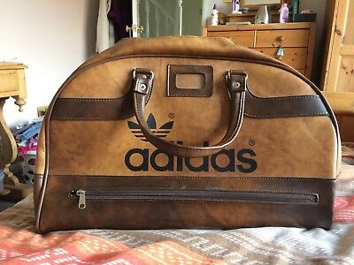 d8dc00dbe7 Vintage ADIDAS Peter Black Sports Bag RARE Holdall Retro Weekender brown
