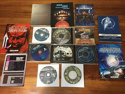 Bulk Lot of Star Trek PC Games- Birth of Federation, Elite forces and others