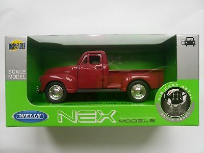 1953 Chevrolet 3100 Pick Up Red 1:34-1:39 Welly Metal Car Nib
