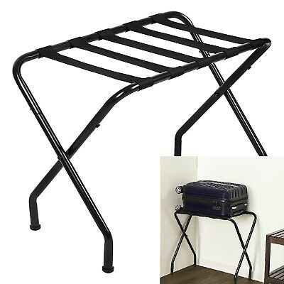 Metal Folding Suitcase Stand Hotel motel Travel Storage Luggage Rack-Shelves