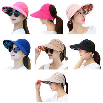 Women Wide Brim Sun Hats Cap Summer Beach Visor Anti-UV UPF Floppy Packable Hat