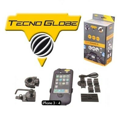 Tecno Globe Supporto Impermeabile Cellulare Iphone 3-4 Moto Scooter Harley