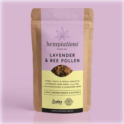 2DIE4 LIVE FOODS Activated Organic HEMPTATIONS Lavender and Bee Pollen 80g