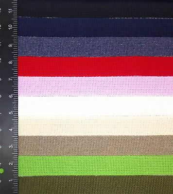 Cotton Acrylic 30mm Webbing *10 Colours & 5 Lengths*