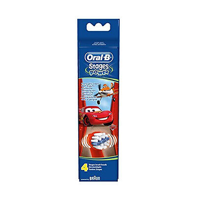 Oral-B Stages Power Kids Replacement Brush Heads Disney Cars Pack of 4