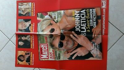 rare affiche 2010 collector JOHNNY HALLYDAY  grd format poster PARIS MATCH