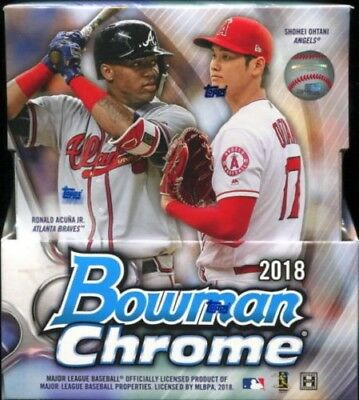 2018 Bowman Chrome Baseball Cards Factory Sealed Hobby Box 2 Autos