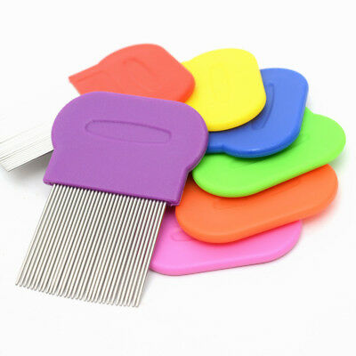 Handheld Pet Hair Comb Brushes Egg Dust Nit Free Removal Stainless Steel Random