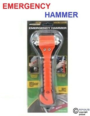 2 X Brookstone Emergency Hammer and Seat Belt Cutter BRAND NEW CAR BUS TRUCK