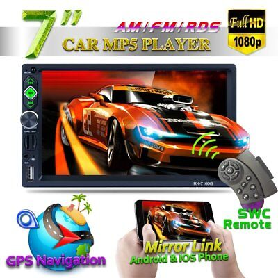 "7160G 7"" Car MP5 Touch Screen Rear View Bluetooth FM Radio Multimedia Player UK"