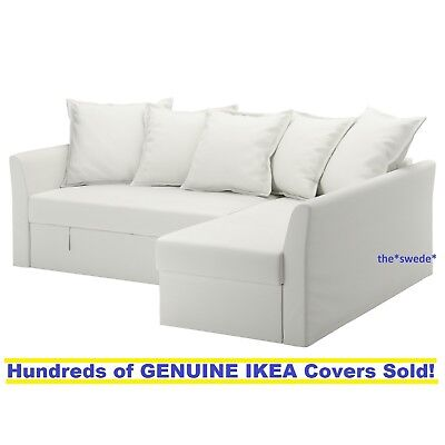 Ikea Holmsund Corner Sofa Bed Sectional Cover Slipcover Ransta White