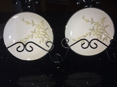 "2 BARKER BROTHERS Japan Porcelain China   6"" BOWLS w/ Flowers 63-293P"