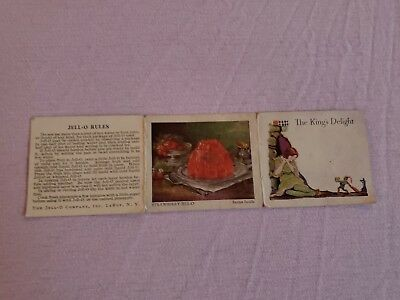 Vintage 1930s Jell-O King's Delight Premium Story Recipe Card