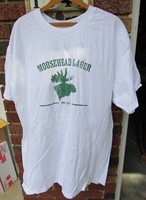 Moosehead Lager Beer Distressed Tee Shirt NEW Size XL