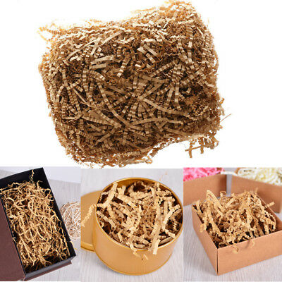 50G Natural Kraft Shredded Paper Crinkle Cut Gift Pack Box Hamper Filler Tissue