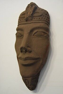Lime Stone Ancient Egyptian Head Of Akhenaten Pharaoh Statue