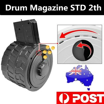 Drum Magazine STD 2th For STD/PDW/JinMing8/M4A1/SCAR V2 Water Gel Ball Blaster