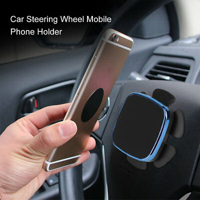 Universal Auto Car Steering Wheel Mobile Phone Magnetic Holder Bracket NH