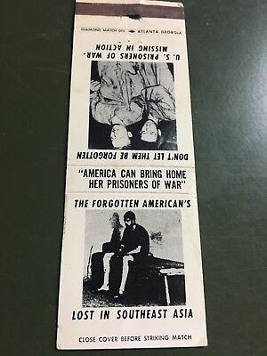 Matchbook Cover-The Forgotten American's List In Southeast Asia