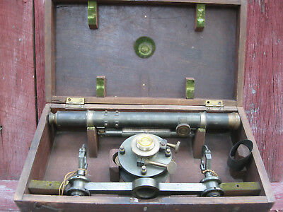 Antique Transit (Wye Level) In Original Case Rich & Patten Baltimore md. 1860's