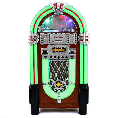 Jukebox Vintage 1950s Retro Stereo CD Player FM Radio Aux USB Bluetooth Machine