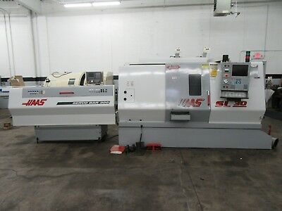 Haas SL-30T CNC Turning Center With Servo Bar Magazine Barfeed