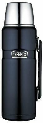 Thermos Stainless King 40-Ounce Beverage Bottle, Midnight Blue, New