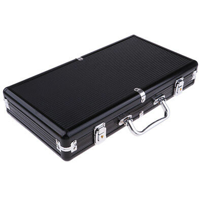 300 Capacity Chips Suitcase Container Chip Aluminum Case Poker Accessories