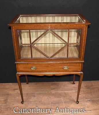 Edwardian Display Cabinet - Antique China Cabinet in Mahogany