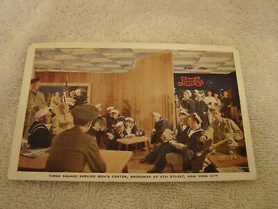 Pepsi-Cola Armed Forces Of United Nation Time Square Serive Center Post Card Wwi