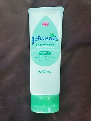 NEW Johnson's Baby Creamy Oil Aloe Vitamin E 8 Oz Mosquito Repellent