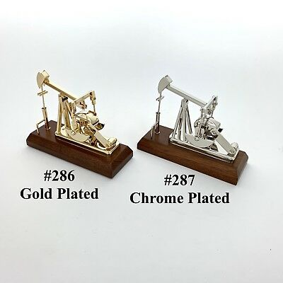 Oilfield Gifts Gold Oil Well Pump Jack Model Trophy Collectible Sticker keychain