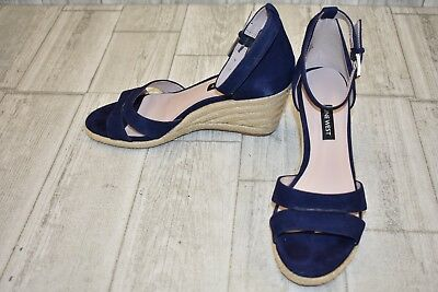 5476de4114a NINE WEST JABRINA Espadrille Wedge Sandal - Women s Size 7.5M Navy -  41.60