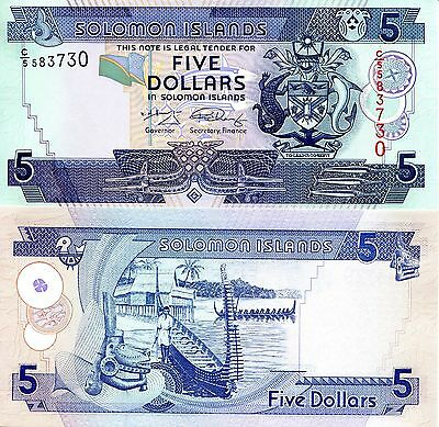 EAST CARIBBEAN STATES 5 Dollar Banknote World Paper Money Currency Pick p47 2008