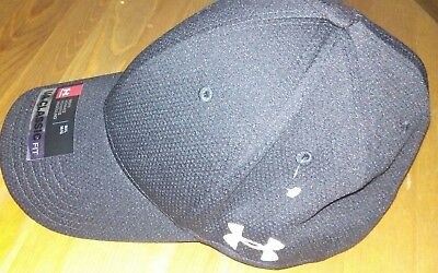 Under Armour Men's UA  classic fit  Baseball Cap, Black/White MEDIUM/Large  NEW