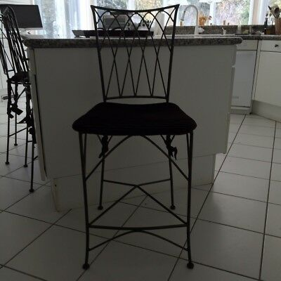 Pier One Indoor Outdoor Wrought Iron Bar Stool 75 00 Picclick