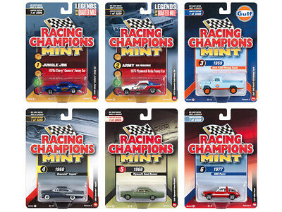 2018 Mint Release 2 Set A Of 6 Cars 1/64 Diecast By Racing Champions Rc008 A