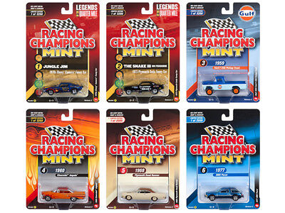 2018 Mint Release 2 Set B Of 6 Cars 1/64 Diecast By Racing Champions Rc008 B