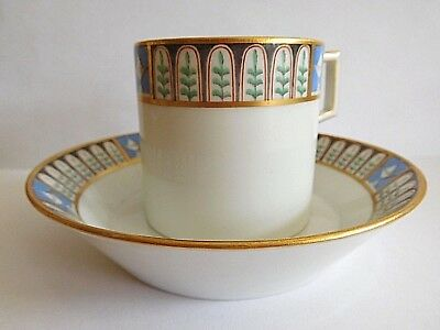Late 18Th Early 19Th Century Berlin Coffee Can And Saucer Hand Painted