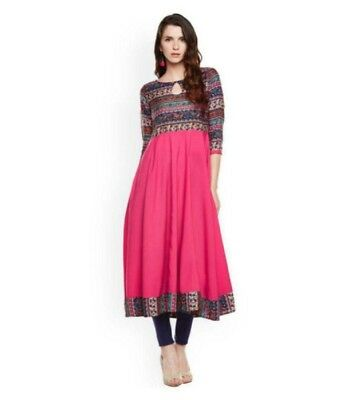 Indian Bollywood Anarkali  Kurta Kurti Designer Dress Women Free Shipping