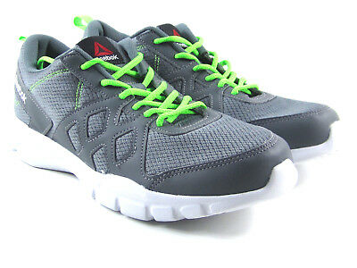 Reebok Trainfusion Nine Mens Trainers Gray / Green Running Shoes Size 10  Aq9111