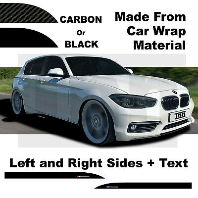 BMW F 20 21 1 Series M Performance Side Skirt 3D Carbon Sticker Decal black