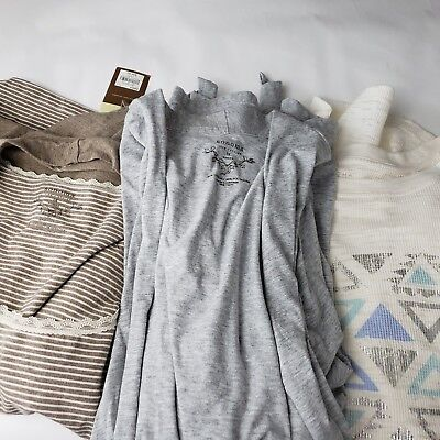 Sonoma 1X Lot of 3 Shirts Cardigans Blouse thermal stripe  womens plus