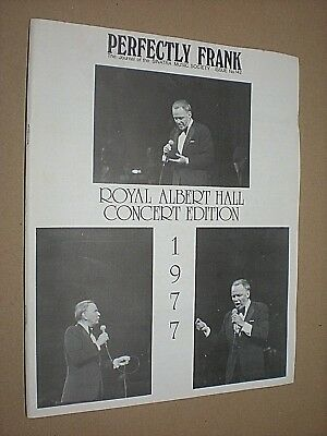 PERFECTLY FRANK. JOURNAL OF THE SINATRA MUSIC SOCIETY. No.142. 1977