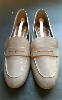 3d4db18e56f69 Sam Edelman Etiene Women s Flat Loafer Taupe Patent leather Shoes Size ...