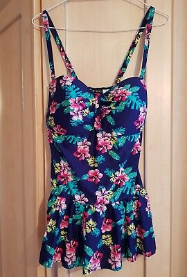 Bnwt Ladies Swimdress Swimming Suit Costume Skirt Size 24 Floral By