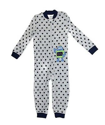Little Me Footie Toddler Boys Robot Stars 1 Piece Footed Pajamas Sleeper - 3T