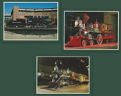 Lot of 3 Trains California State Railway Museum Vintage Unused Postcards Burman
